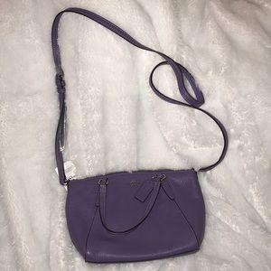 Coach light purple mini Kelsey bag NWT